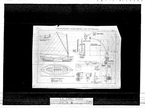 Desdemona Sands Architectural Plans: 18 Foot Boat (Coast Guard)