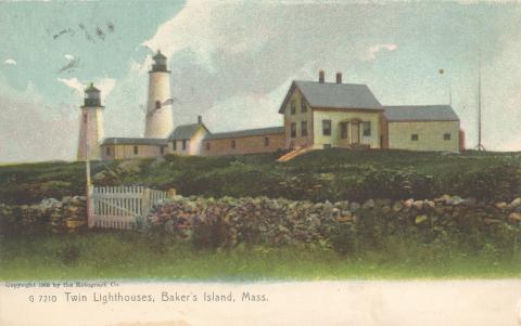 Bakers Island postcard