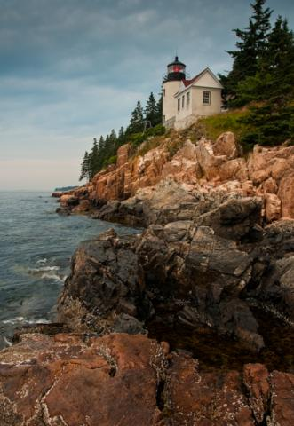 Bass Harbor Head Lighthouse color photo