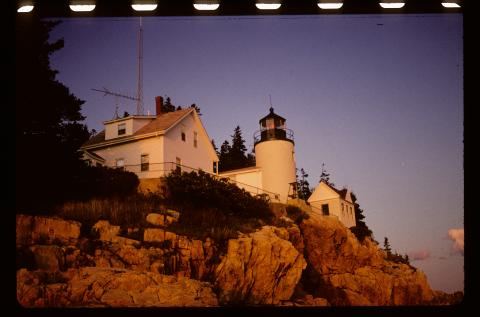 Color photo of light station