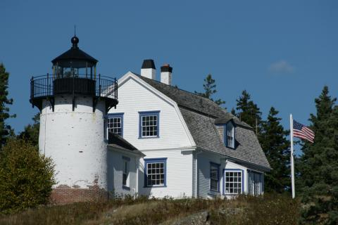 Bear Island Lighthouse and dwelling
