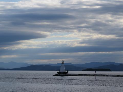 Burlington Breakwater South Lighthouse by James Hill 2012