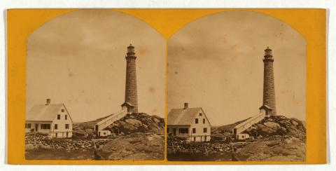 Cape Ann (Thacher Island) Light Station north tower stereo view