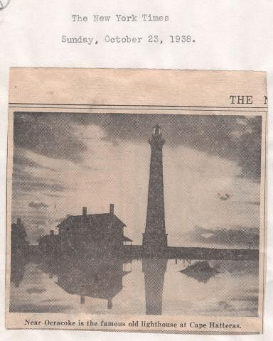 Cape Hatteras 1938 clipping