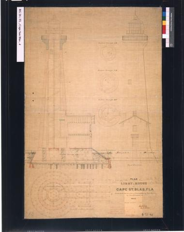 Elevation, Plan, Section - Destroyed 1882
