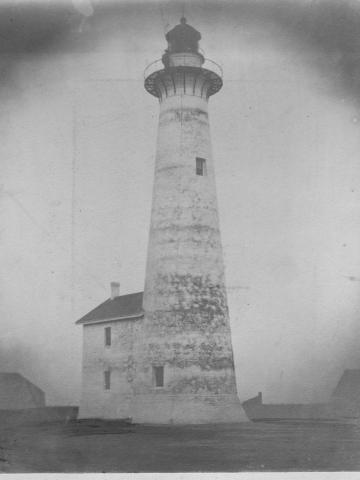 Brick Lighthouse in 1860