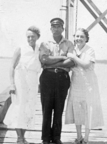 Maynard Farnsworth and two women