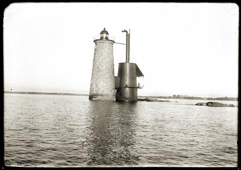 Whaleback lighthouse and fog signal tower