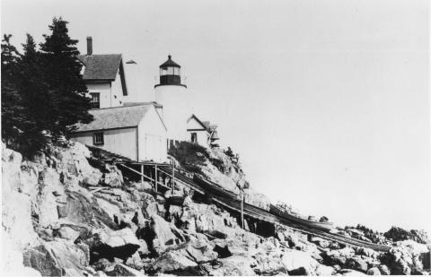 early view showing boathouse and ramp