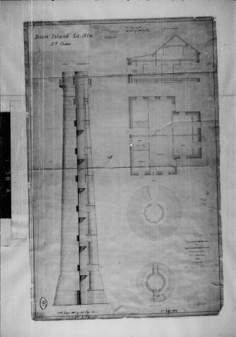Plans for lighthouse and dwelling