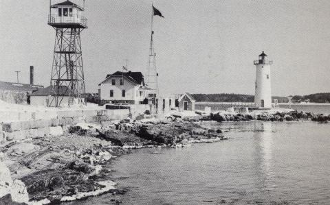 Portsmouth Harbor Light Station including lookout tower, circa 1950s