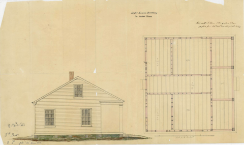 Port Isabel TX Keeper's Dwelling NA 1855.png
