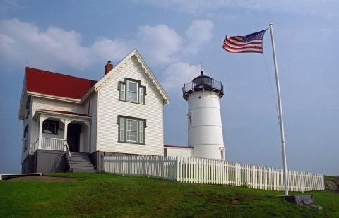 Cape Neddick Lighthouse and keeper's house