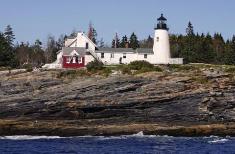 Pemaquid Point light station from the water