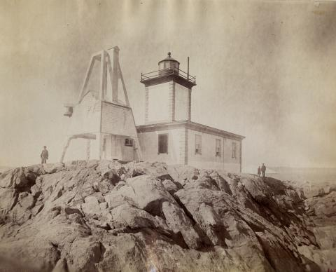 Avery Rock Lighthouse and fog bell tower