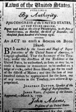 1799 act to erect an unlighted beacon