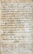 1801 letter concerning James Day and George Day at Annisquam