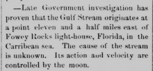 newspaper article about gulf stream distance to lighthouse