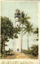white boarder card of lighthouse
