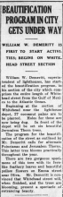 newspaper clipping about Depot