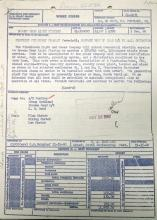 1960 work order concerning new electric service