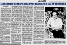 Article about daughter of Vinal Beal