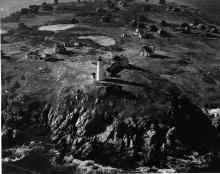 Bakers Island 1949 aerial view