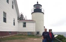 Mike & Carol McKinney in front of lighthouse