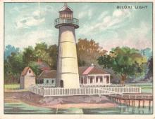 hand drawn lighthouse station card
