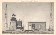 Block Island Southeast Light with fog horns - postcard