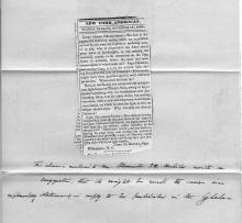 Cape Hatteras 1835 Newspaper Complaint