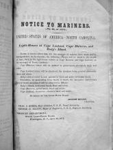 Notice to Mariners NC 1838
