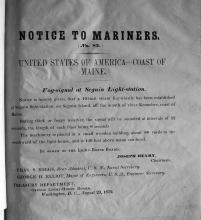 1872 Notice to Mariners
