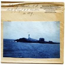 Undated late 1800s photo of Isles of Shoals Light Station