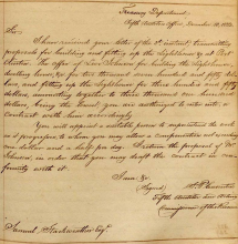 Port Clinton Construction Letter 1832