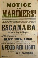 Sand Point Escanaba MI Notice to Mariners