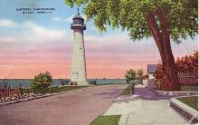 color postcard of lighthouse