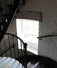 tower window and staircase