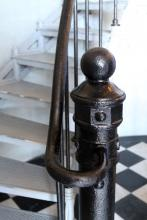 newel post at base of lighthouse
