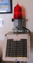 Red Lantern with Solar Panel