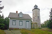 lighthouse tower and dwelling
